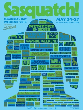 2013 Festival Preview: Sasquatch – Full Lineup Announcement!!