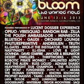 2013 Festival Preview: Sonic Bloom – Full Lineup Announcement!!
